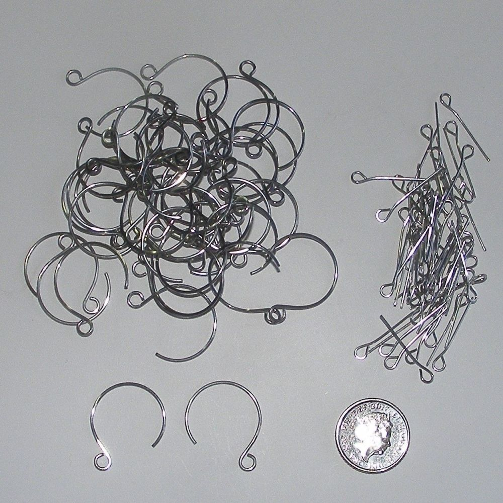 <!--006-->(EW 03V) Ear Wires + Eye Pins (24 pairs)