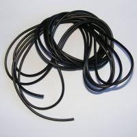 (HC 2) 2mm Hollow Black Rubber Cord