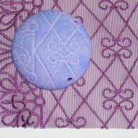 (L33) Lace - Purple Art Deco