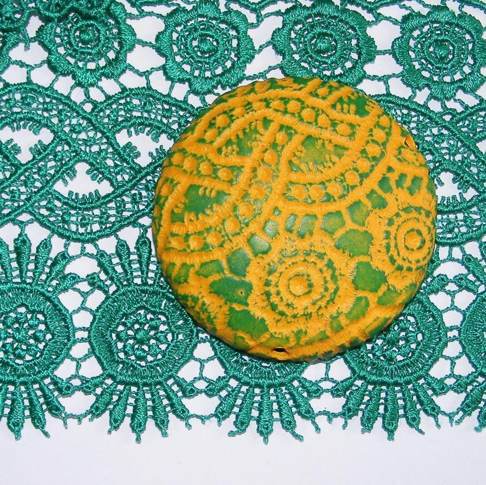 <!--002-->(L02)Lace - Green Guipure
