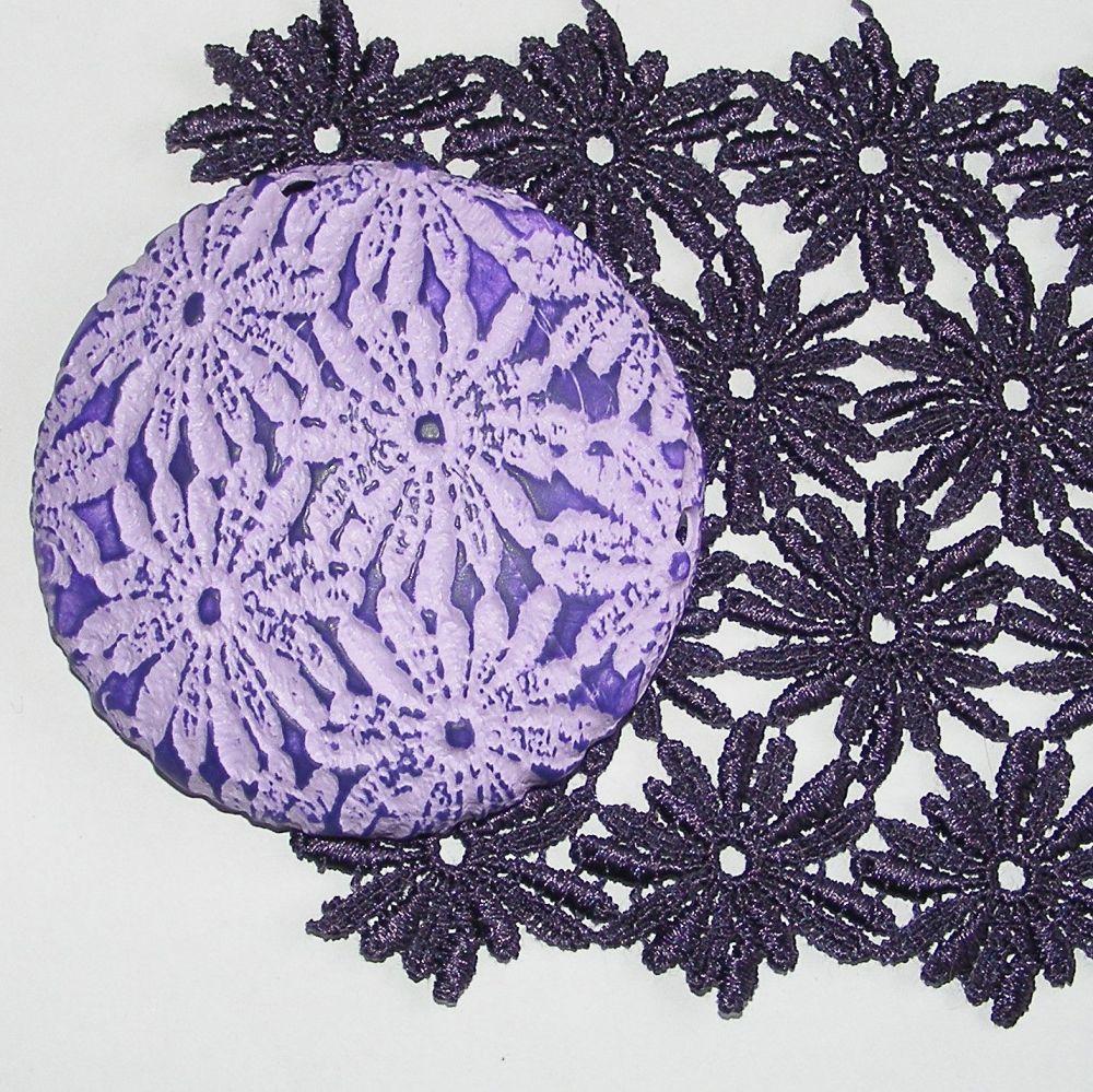 <!--007-->(L07)Lace - Purple Daisy