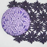 (L07)Lace - Purple Daisy