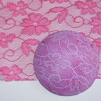 (BL 28) Pink Flowers - Bangle Length Lace