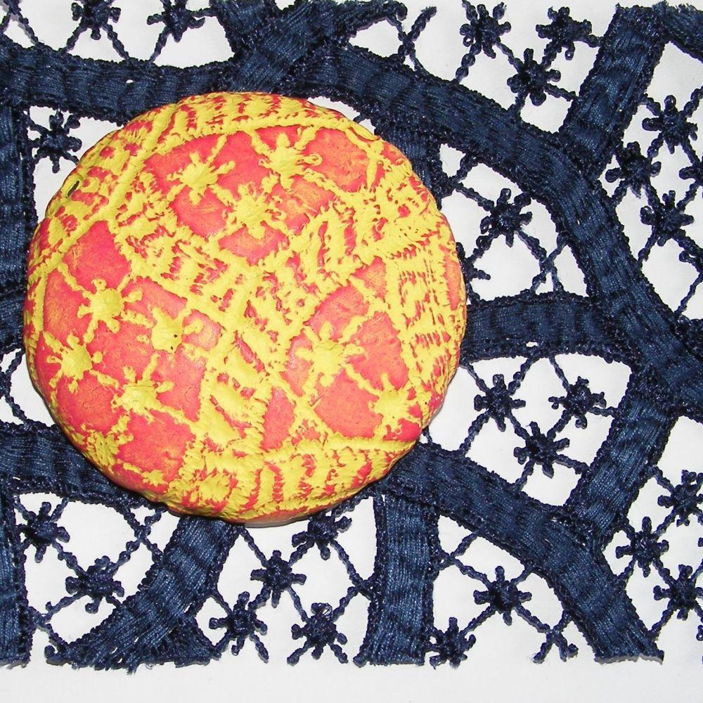 <!--007-->(BL 07) Navy Erratic Lace - Bangle Length