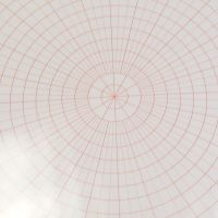 (LM 02) A4 Laminated Polar Grid Sheet - 10mm