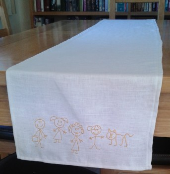 Stick Family Table Runner