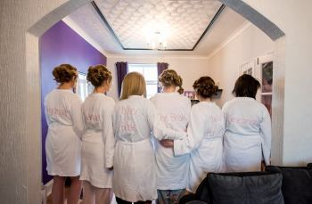 Wedding day dressing gowns