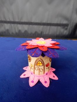 Flower roof fairy house