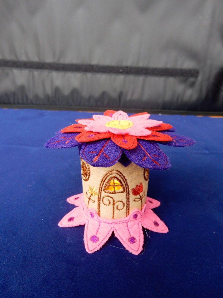 Flower roof fairy house