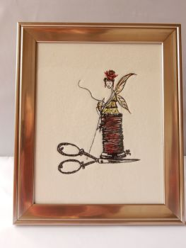 Sewing Fairy on a thimble