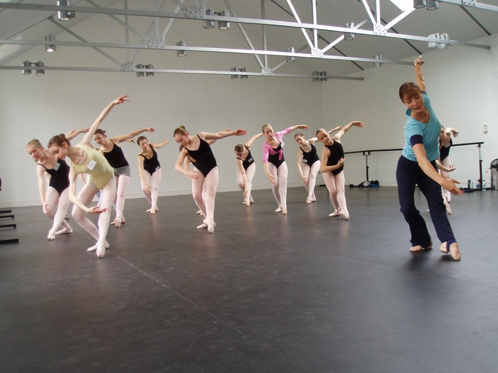 Miss Jo teaching ballet