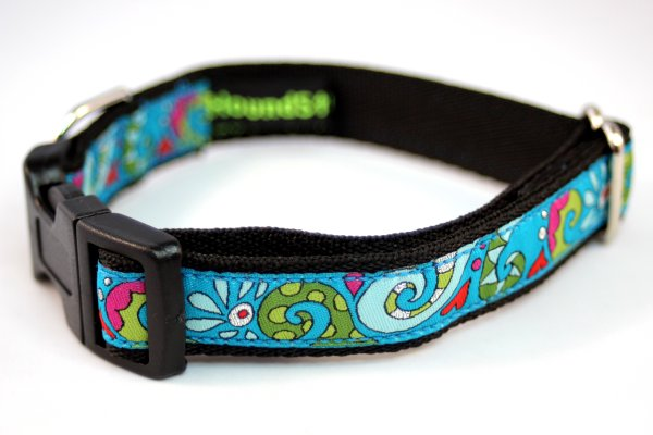 Turquoise Paisley Hearts