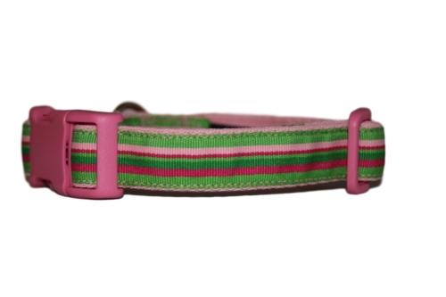 Pink & Green Candy Stripes