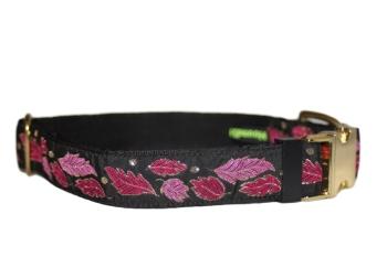 Pink Metallic Leaves (Luxury)