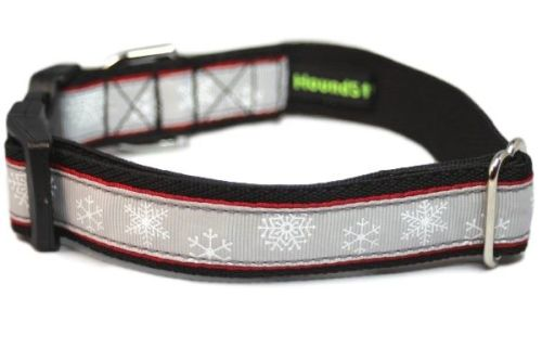 Grey Snowflakes - Large Clip Collar