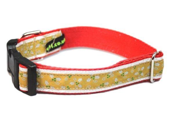 Gold Holly - Medium Clip Collar