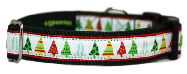 Green Xmas Trees - Medium Clip Collar