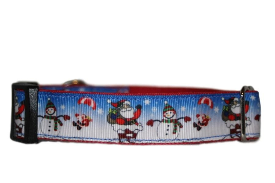 Santas & Snowmen - Medium Clip Collar