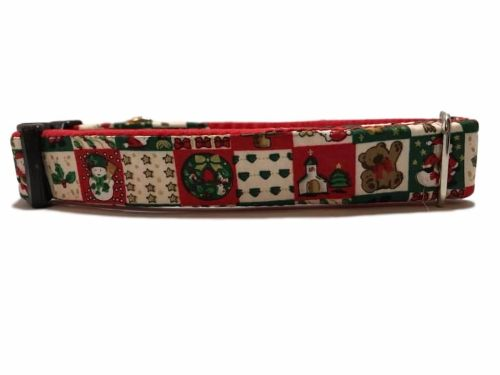 Festive Squares - Medium Clip Collar