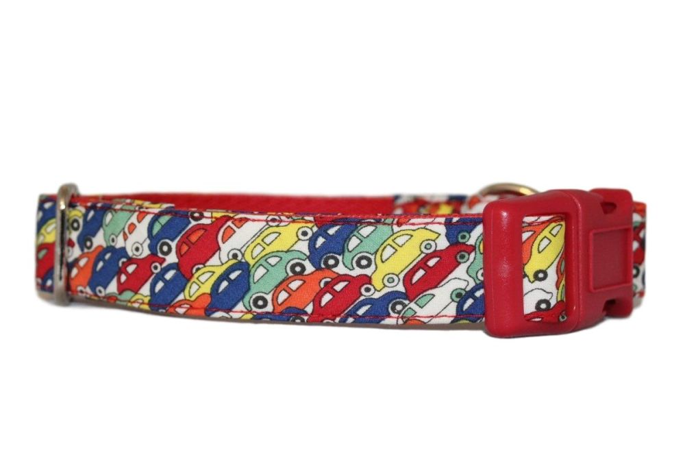 Red Liberty Fabric Cars