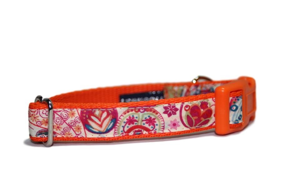 Orange Liberty Fabric Paisley