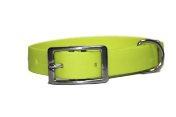 Flo Yellow Biothane Buckle Collar
