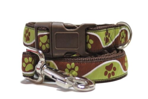 Brown & Green Paws