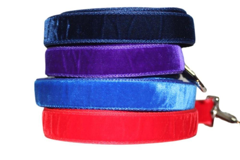 Velvet Leads - 25mm wide (various colours)