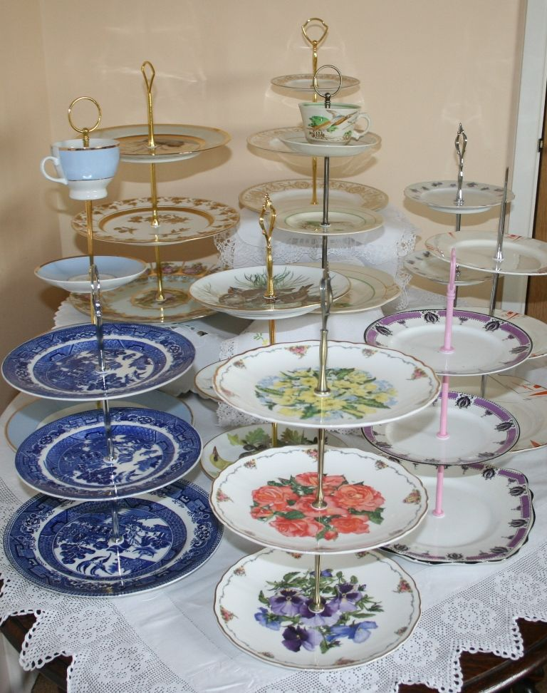 Antique And Vintage 1 2 And 3 Tier Cake Stands
