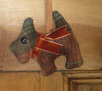 Tweed Scottie Dog - Chestnut