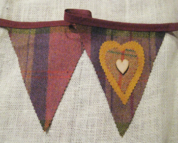 Rustic Heart Bunting - Fruit
