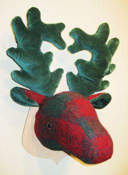 Large Stags Head - Harris Tweed