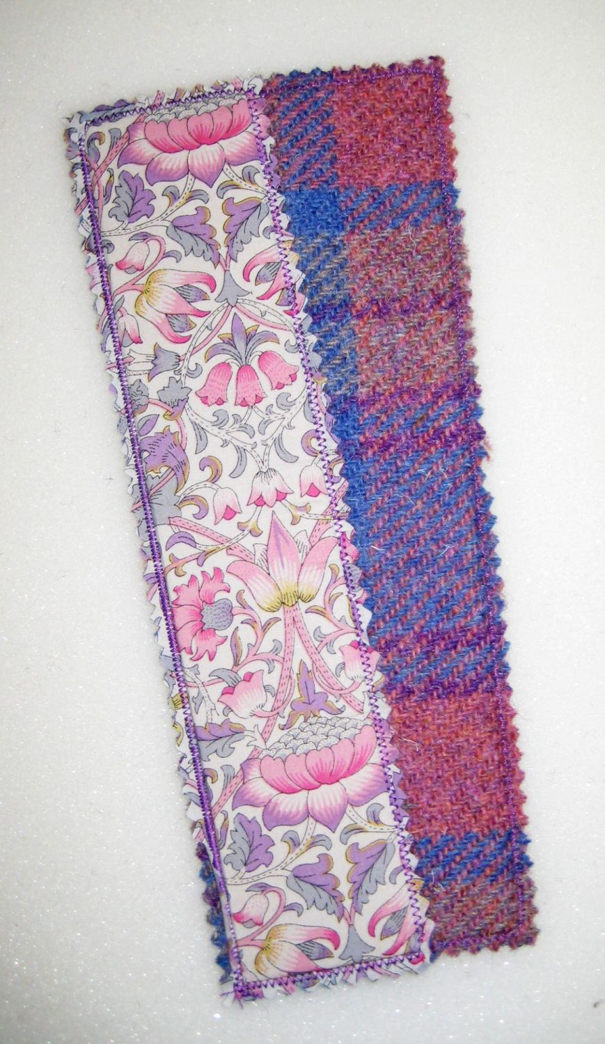 Liberty - Pink Lodden and Harris Tweed Bookmark
