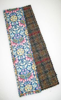 Liberty - Persephone  and Harris Tweed Bookmark