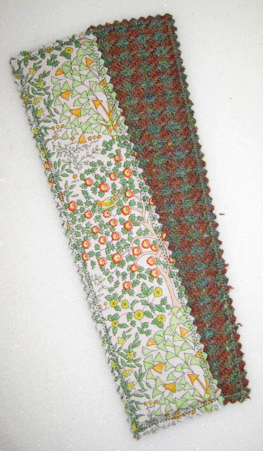 Liberty - Orchard and Harris Tweed Bookmark