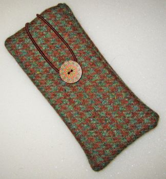 Harris Tweed - Dogtooth and Liberty  - Glasses Case