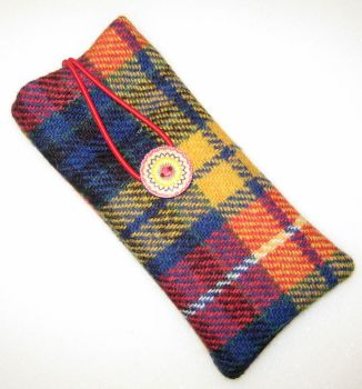 Harris Tweed - Yellow Check and Liberty - Ianthe Glasses Case