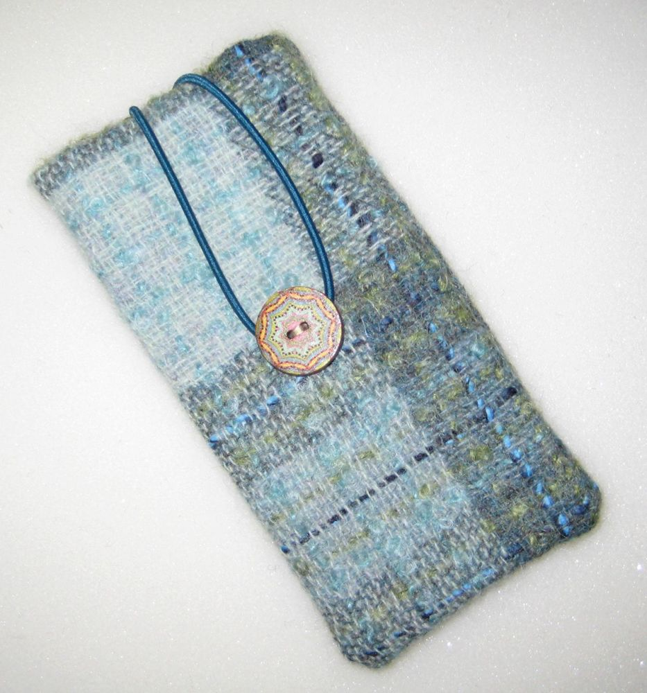 Tweed  - Turquoise  with Liberty Lodden Glasses Case