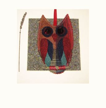 Felted Tweed Yorkshire Lavender Filled Owl - Orchard