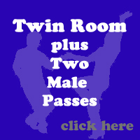 October Twin Room 2 x Male Passes
