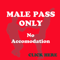 October Male Pass only (No dinner B&B)