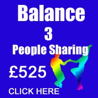 October Balance 3 People Sharing
