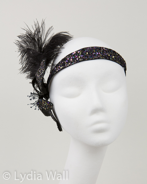 Glitter flower headpieces