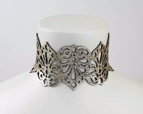 Leather Choker Necklace -