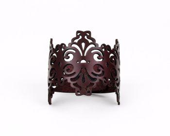 """Laser cut Leather cuff """"Spirals"""" Design in Dark burgundy, Dark chocolate or Dark brown"""