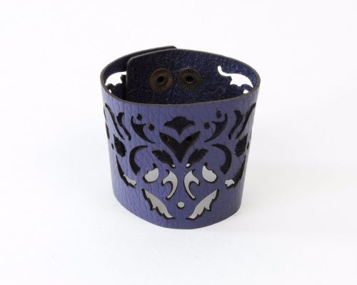 Laser Cut Leather Cuff -