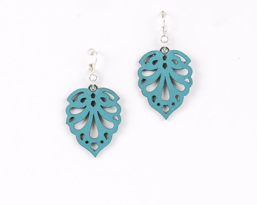 Laser Cut Leather Earrings-