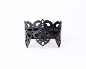 "Laser Cut Leather Bracelet ""Teardrops"" in Black ,Dark burgundy or Burnt orange"