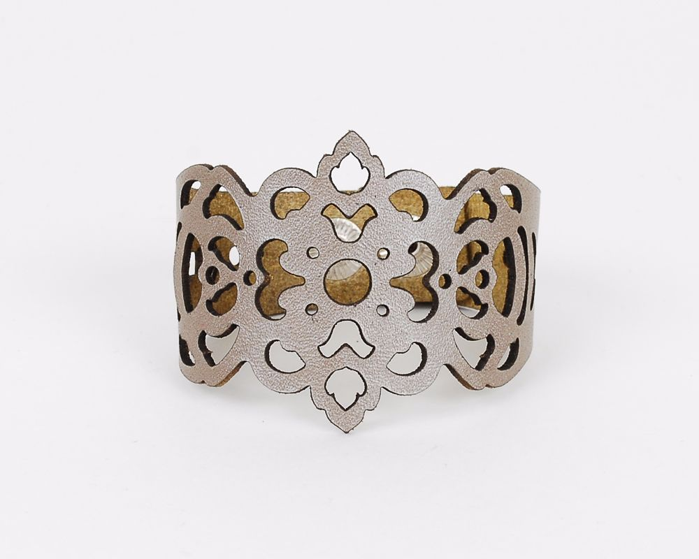 Laser Cut Leather Bracelet -