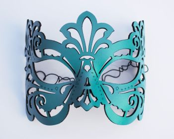 Leather mask in Turquoise or White